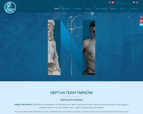 Strona www dla szkoły pływania