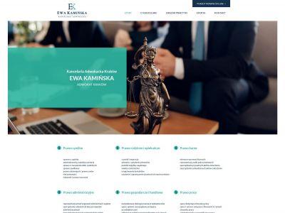 Strona www dla kancelarii adwokackiej
