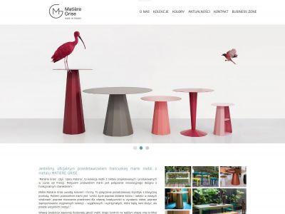 Strona www dla marki stylizowanych mebli