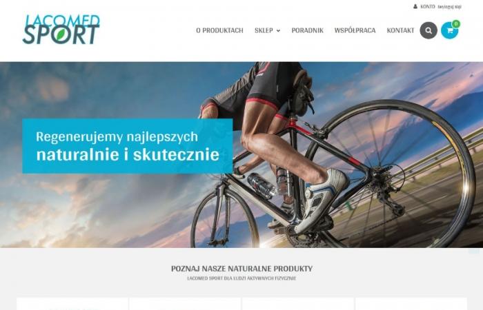 Sklep internetowy z produktami dla sportowców