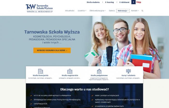 Stona internetowa dla Tarnowskiej Szkoły Wyższej
