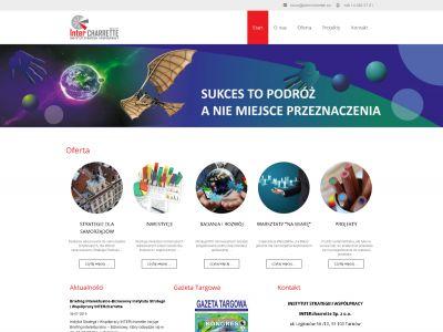 Strona www dla Instytutu Strategii i Współpracy InterCharrette