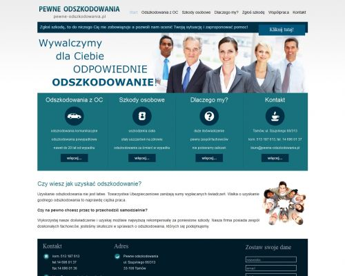 Strona www dla branży odszkodowań