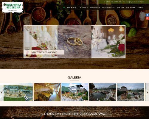 Strona www dla Myśliwska Szczecha