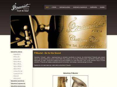 Strona www promująca saksofony