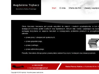 Strona www dla radcy prawnego