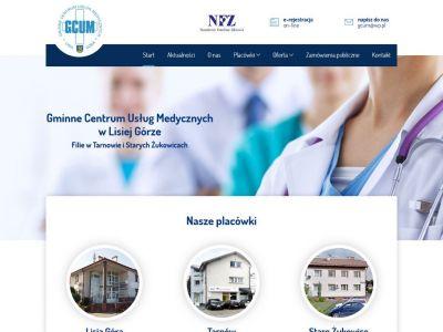 Strona www dla Gminnego Centrum Medycznego