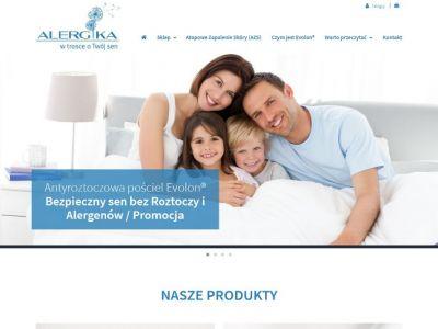 Sklep internetowy dla alergików