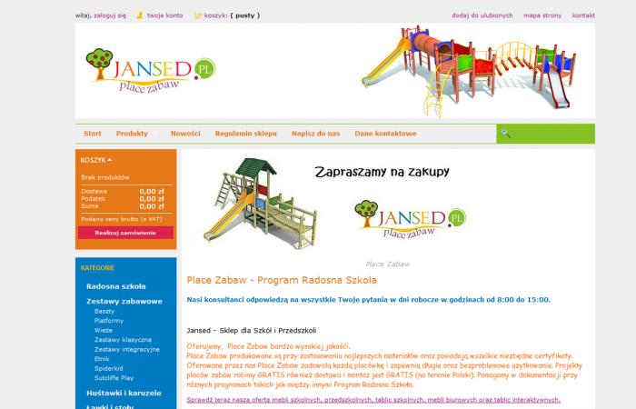 Sklep internetowy dla firmy Jansed Kesto