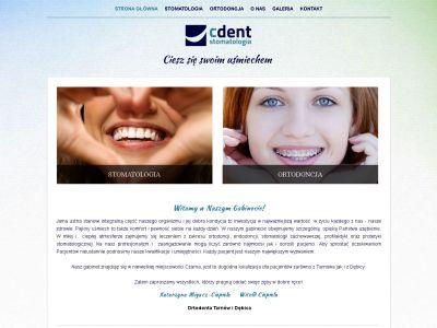 Strona www dla firmy Cdent