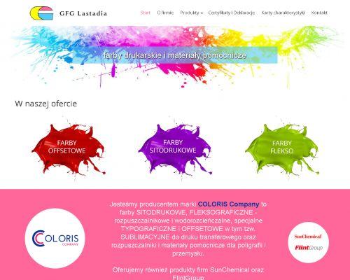 Strona www dla firmy Lastadia