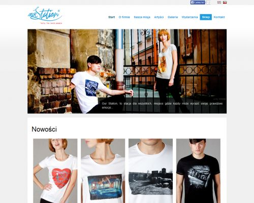 Strona www dla marki Our Station
