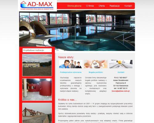 Strona www dla firmy Admax