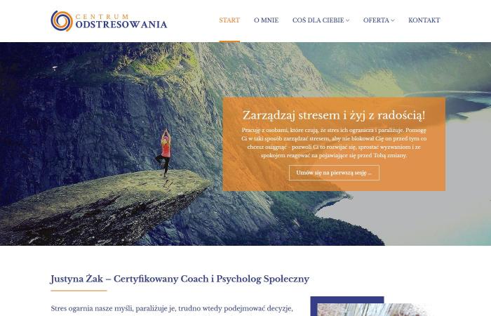 Strona www Certyfikowanego Coacha i Psychologa Społecznego