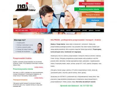 Strona www dla firmy Najtrans