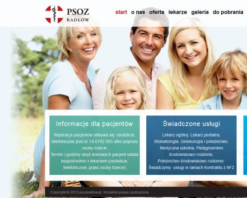 Strona www dla PSOZ Radłów