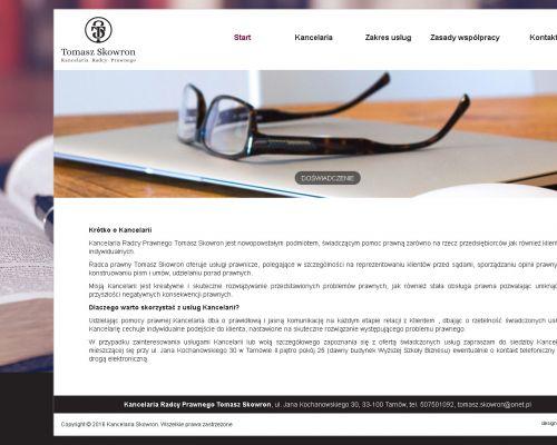 Strona internetowa dla radcy prawnego