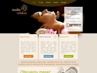 Strona www dla studia masażu