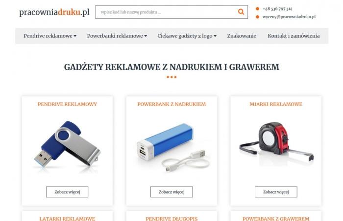 Sklep internetowy z gadżetami reklamowymi