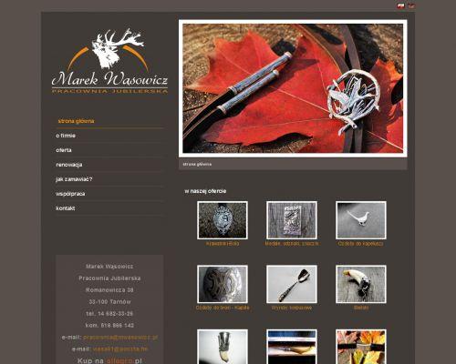 Strona www dla pracowni jubilerskiej