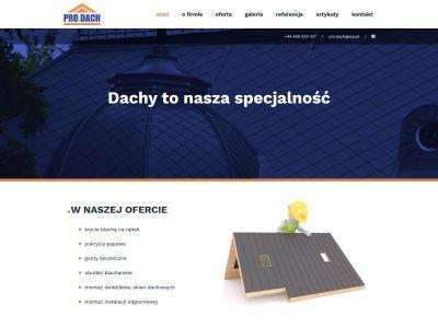 Strona internetowa firmy wykonującej profesjonalne pokrycia dachowe