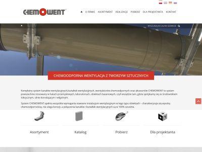 Strona www dla firmy Chemowent Kompleks