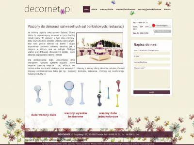 Strona www dla firmy Decornet