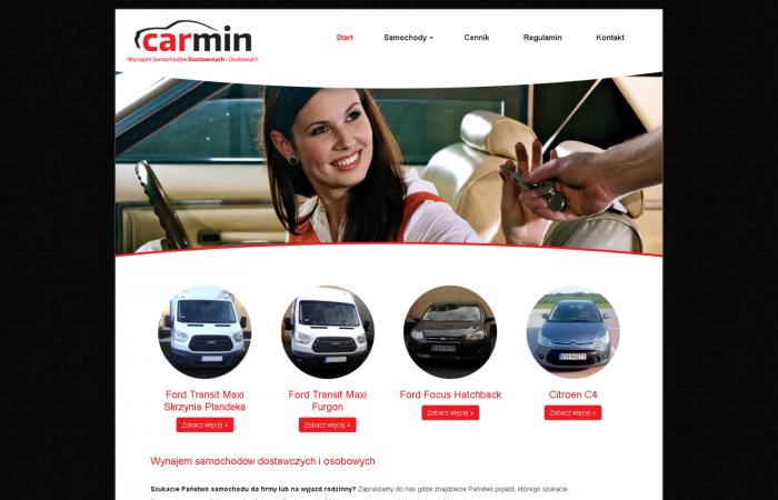 Strona www dla Carmin Auto