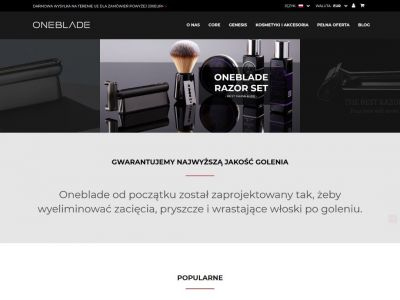 Sklep internetowy z akcesoriami do golenia