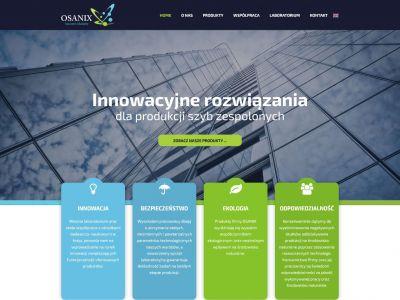Strona www OnePage dla producenta chemii