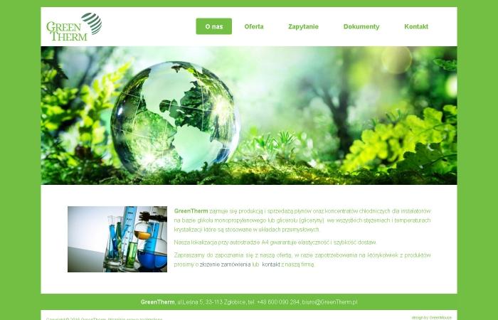 Strona www dla firmy GreenTherm