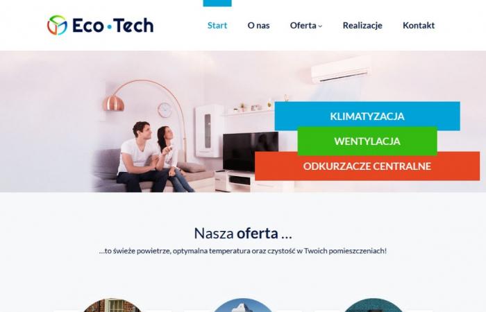 Strona www dla firmy Eco-Tech
