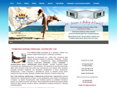 Strona www dla firmy KarsaKlima