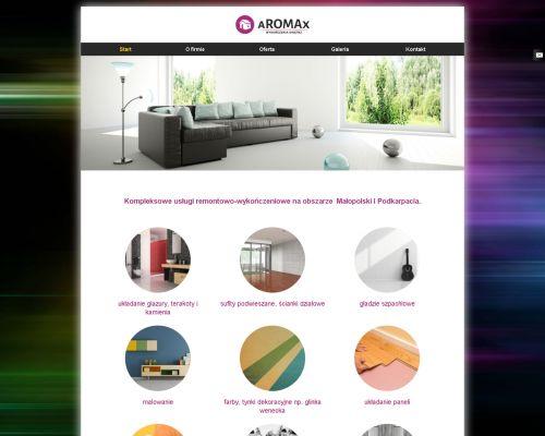 Strona www dla firmy z branży remontowo - wykończeniowej