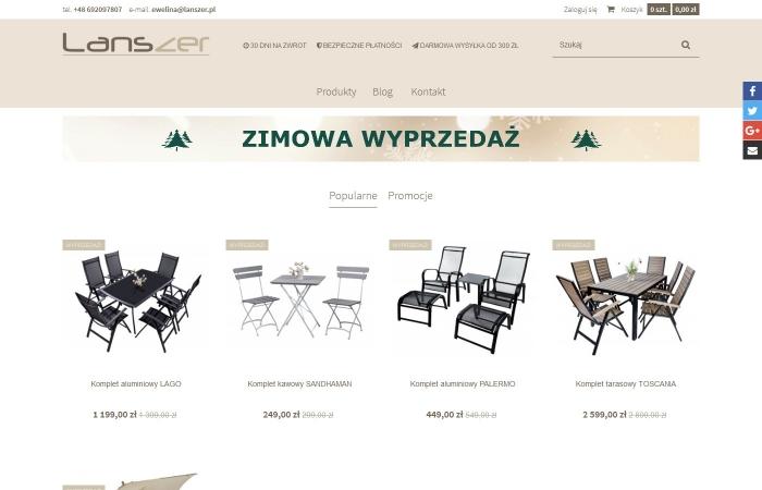 Sklep internetowy z meblami ogrodowymi