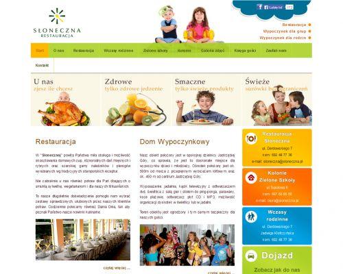 Strona www dla restauracji Słoneczna
