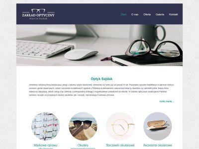 Strona www dla zakładu optycznego