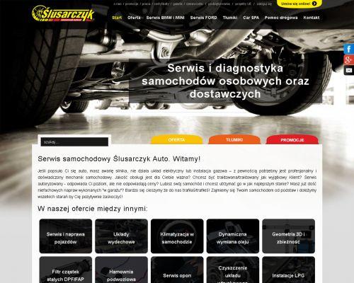 Strona www dla firmy Ślusarczyk Auto