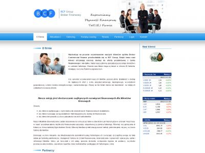 Strona www dla Broker Commercial Finance