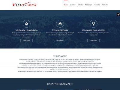 Strona internetowa dla firmy Termo-Went