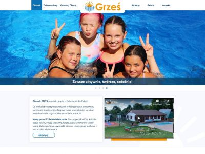 Strona www Ośrodka Wypoczynkowego dla dzieci