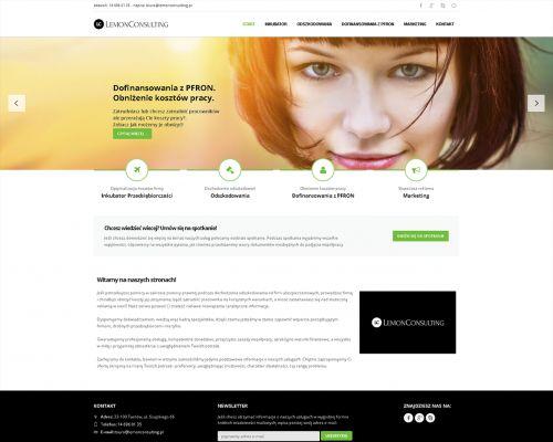 Strona www dla Lemon Consulting