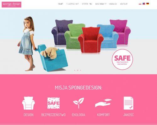 Strona www producenta mebli z gąbki