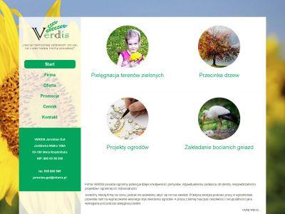 Strona www dla firmy Verdis