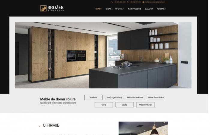 Strona www dla firmy stolarskiej