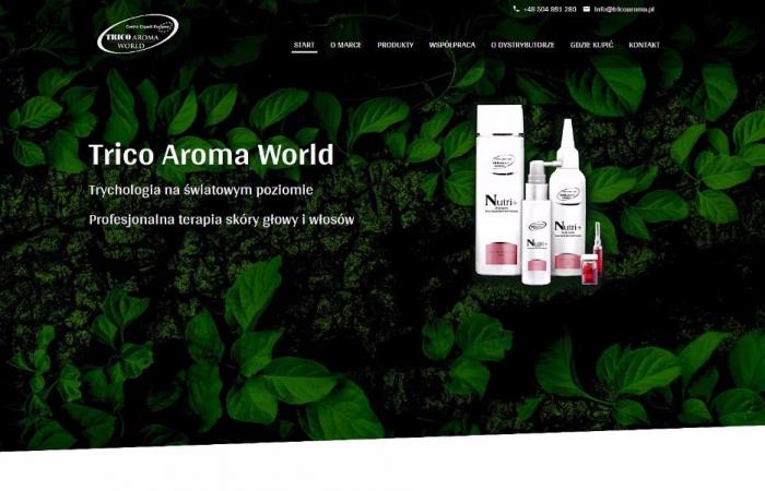 Responsywna strona internetowa dla dystrybutora kosmetyków