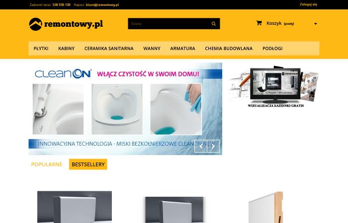 Sklep internetowy z materiałami do remontu domu