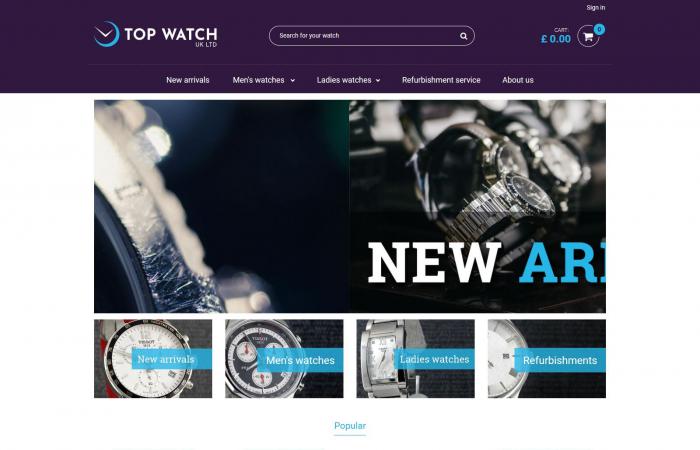 Sklep internetowy z zegarkami