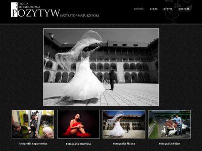 Strona www dla agencji fotograficznej