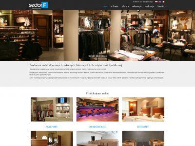 Strona www dla firmy sectorF